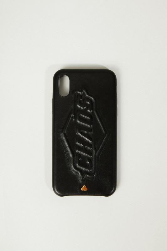 Iphone X Case mit Logo-Schriftzug Schwarz