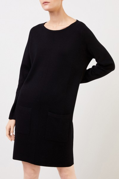 Allude Classic wool knitted dress Black