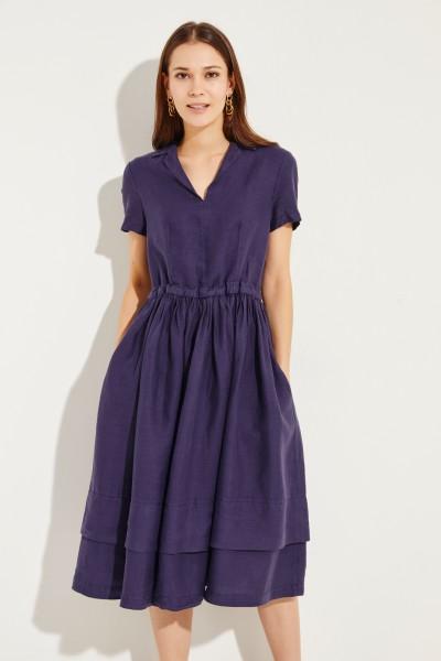 Leinen-Kleid Blau