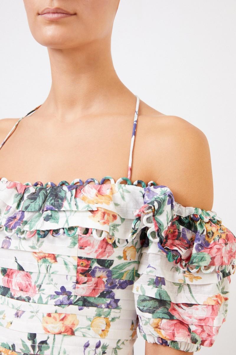 Zimmermann Minikleid mit floralem Muster Multi