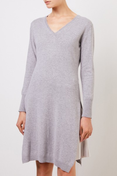 Fabiana Filippi Two-piece wool dress with plissee detail Grey