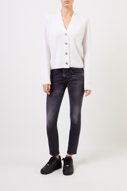 R13 Skinny-Jeans 'Kate' Anthrazit