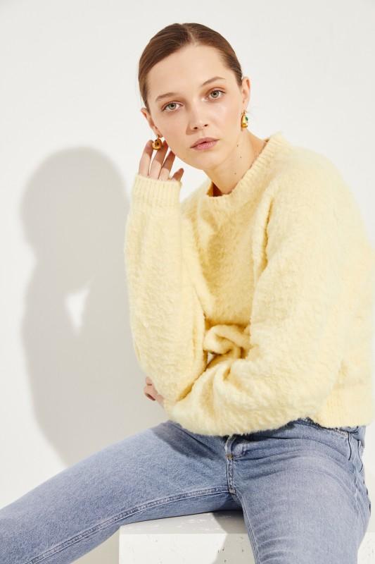 Baumwoll-Pullover 'Kathy' Gelb