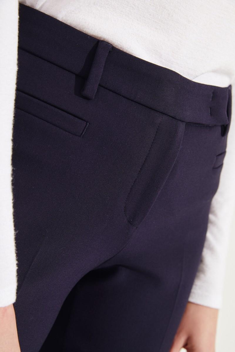 Klassische Hose Marineblau