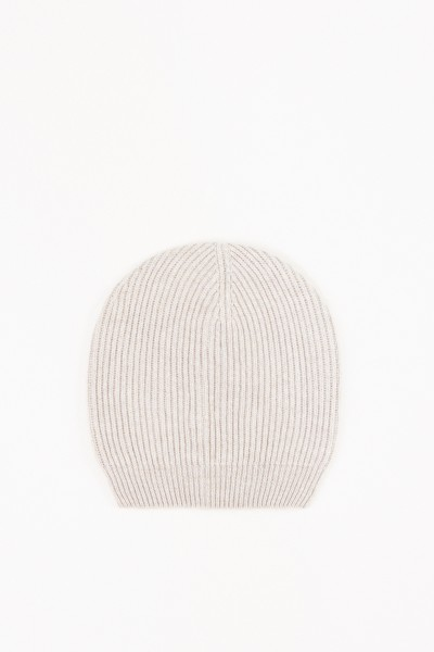 Fabiana Filippi Wool-Silk Knitted Cap Beige