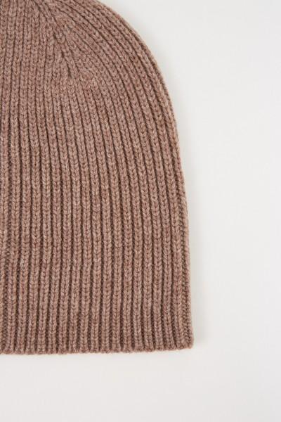 UZWEI Woll-Cashmere-Mütze Taupe