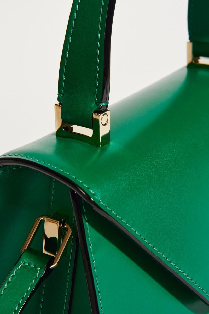 9b42aa26fc8d0b Leder-Tasche 'Iside Small' Grün | Handtaschen | Taschen | unger ...
