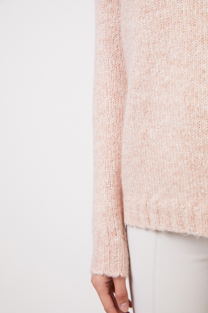 Allude Pullover mit Wollanteil Rosé