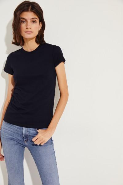 Schlichtes T-Shirt Marineblau