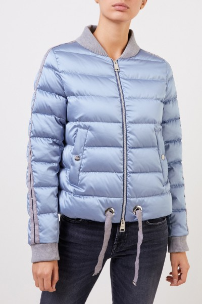 Herno Down jacket with college collar Light Blue