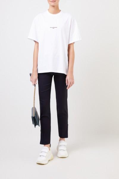 Wool pants 'Vivian' with zippers Navy Blue