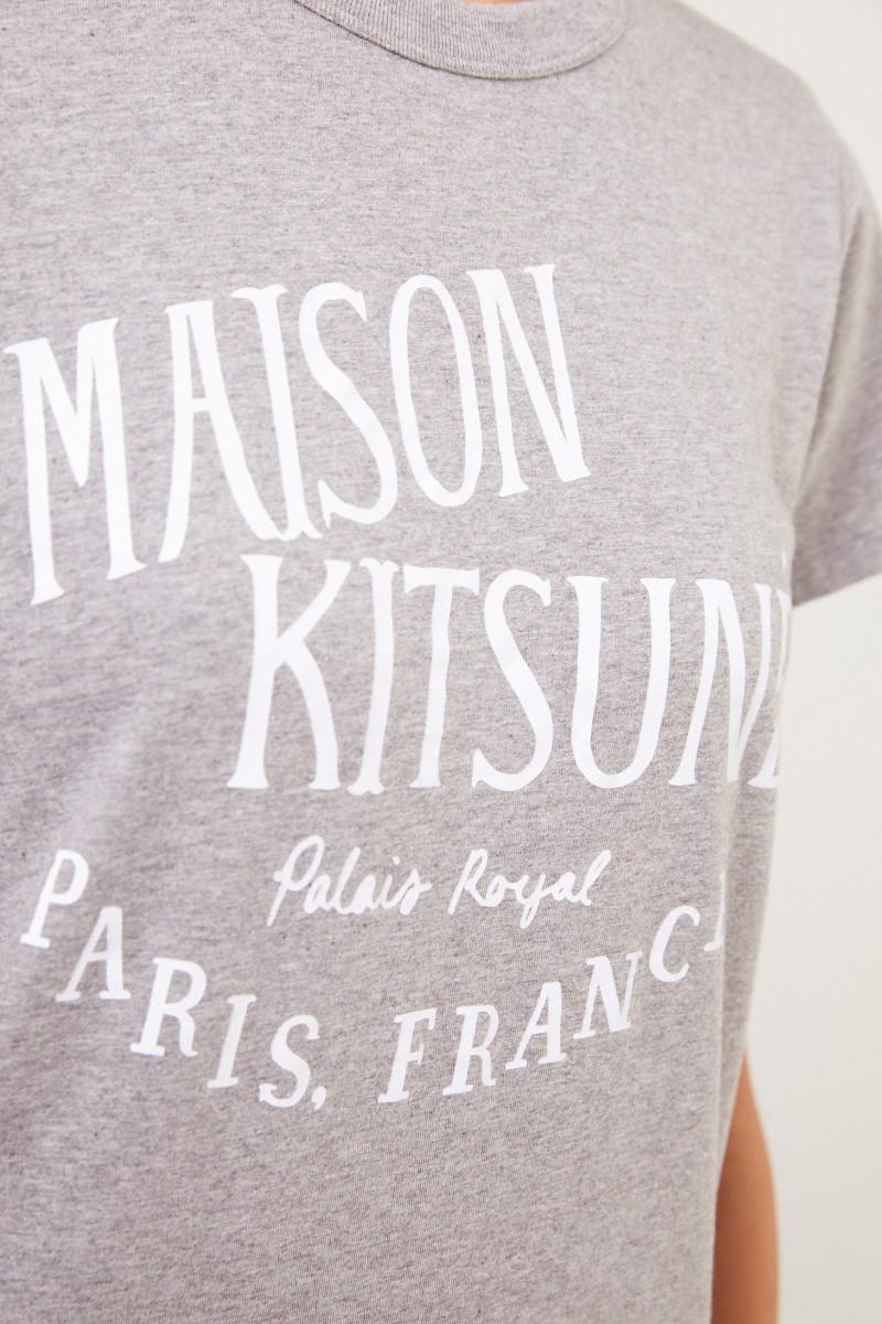 Maison Kitsuné T-Shirt 'Palais Royal' Grau