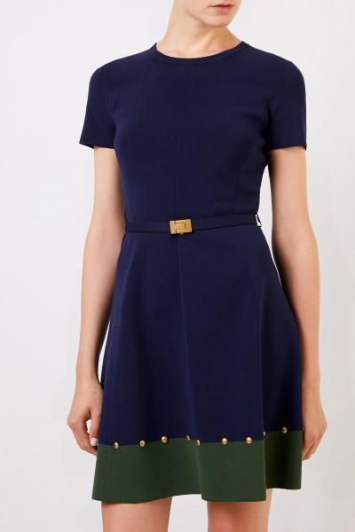 Tory Burch Kleid mit Nieten-Details Marineblau/Grün