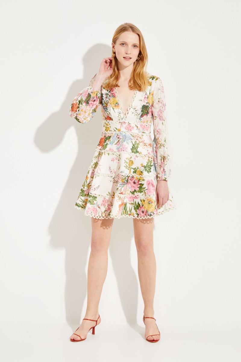 Minikleid mit floralem Muster Multi