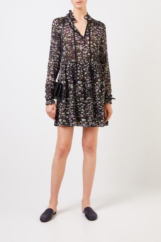 Ganni Kurzes Kleid 'Printed Georgette' Multi