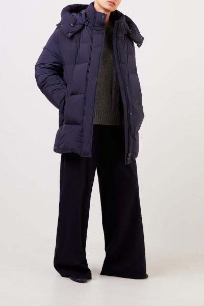 Woolrich Daunenjacke 'Aurora' mit Kapuze Marineblau