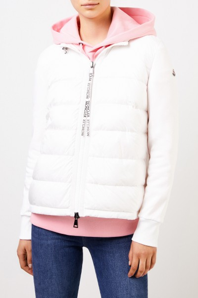 Moncler Down sweatjacket with hood White