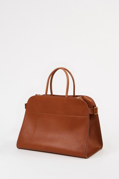 The Row Leder-Handtasche 'Margaux 17' Cognac