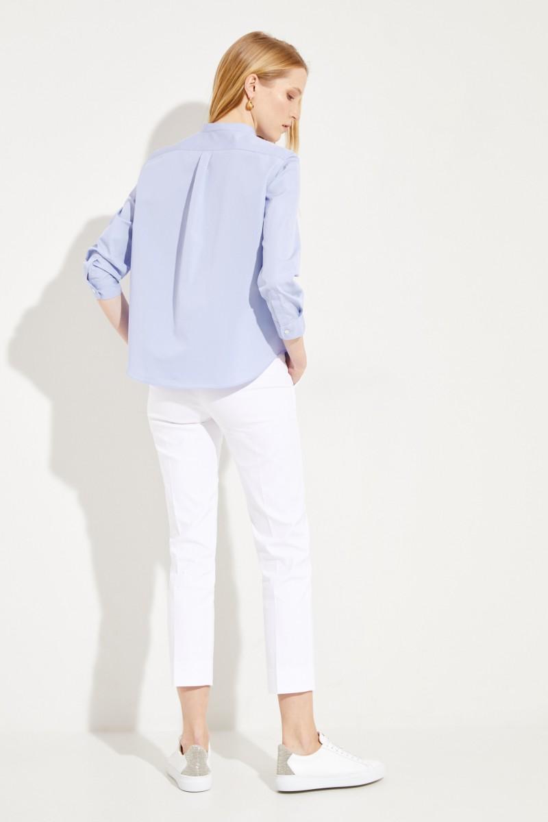 Baumwoll-Bluse Blau