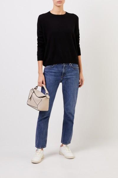 Cashmere sweater 'Calanna' with round neck Black