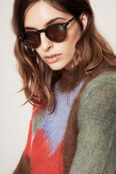 Oliver Peoples Sonnenbrille 'Gregory Peck' Braun