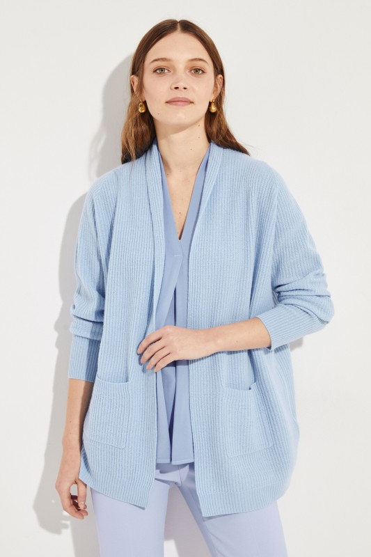 Cashmere-Cardigan Blau