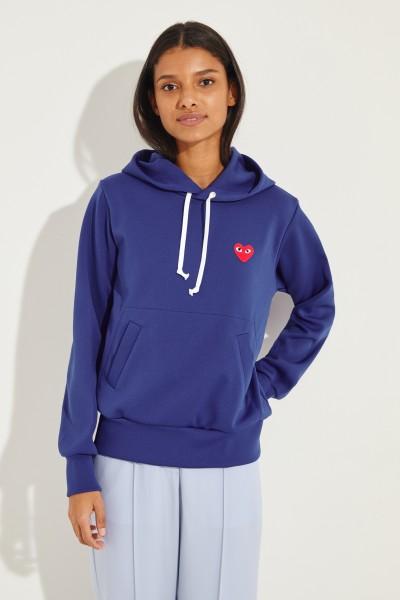 Hoodie mit Herz-Emblem Blau