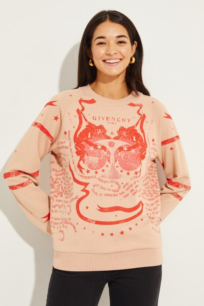 Sweatshirt mit Allover Print Multi