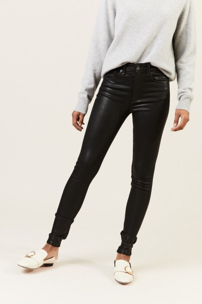 High Rise Skinny Jeans Schwarz