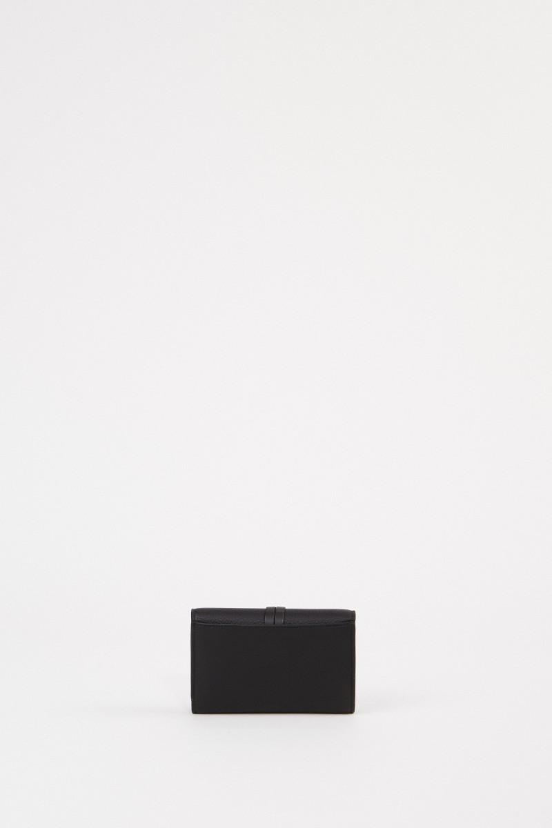 Chloé Leder-Portemonnaie 'Alphabet Small' Schwarz