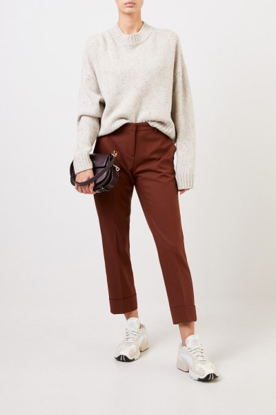 Cambio Trousers 'Krystal' with hem cover rust