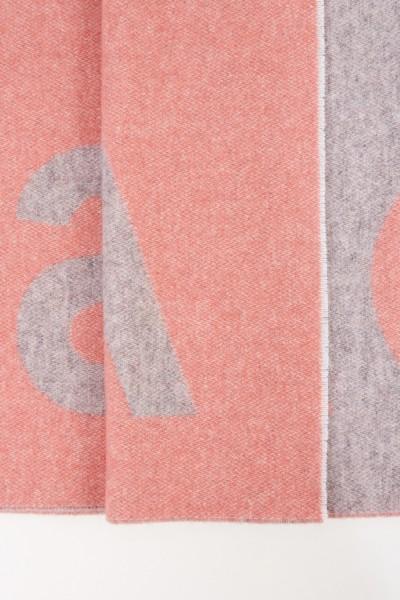 Acne Studios Woll-Schal 'Toronty Logo' Grau/Rosé
