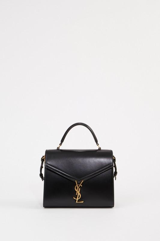 Saint Laurent Leder-Tasche 'Nolita S' Schwarz/Bordeaux