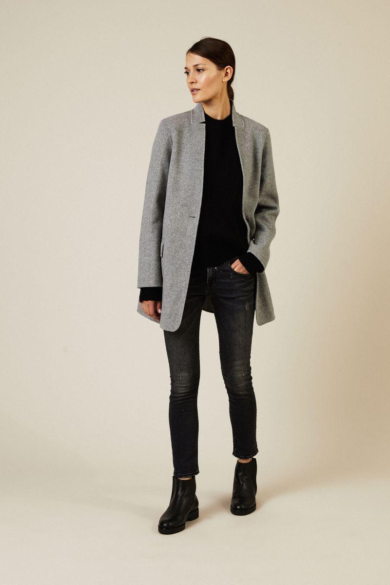 Woll-Cashmere-Pullover Schwarz