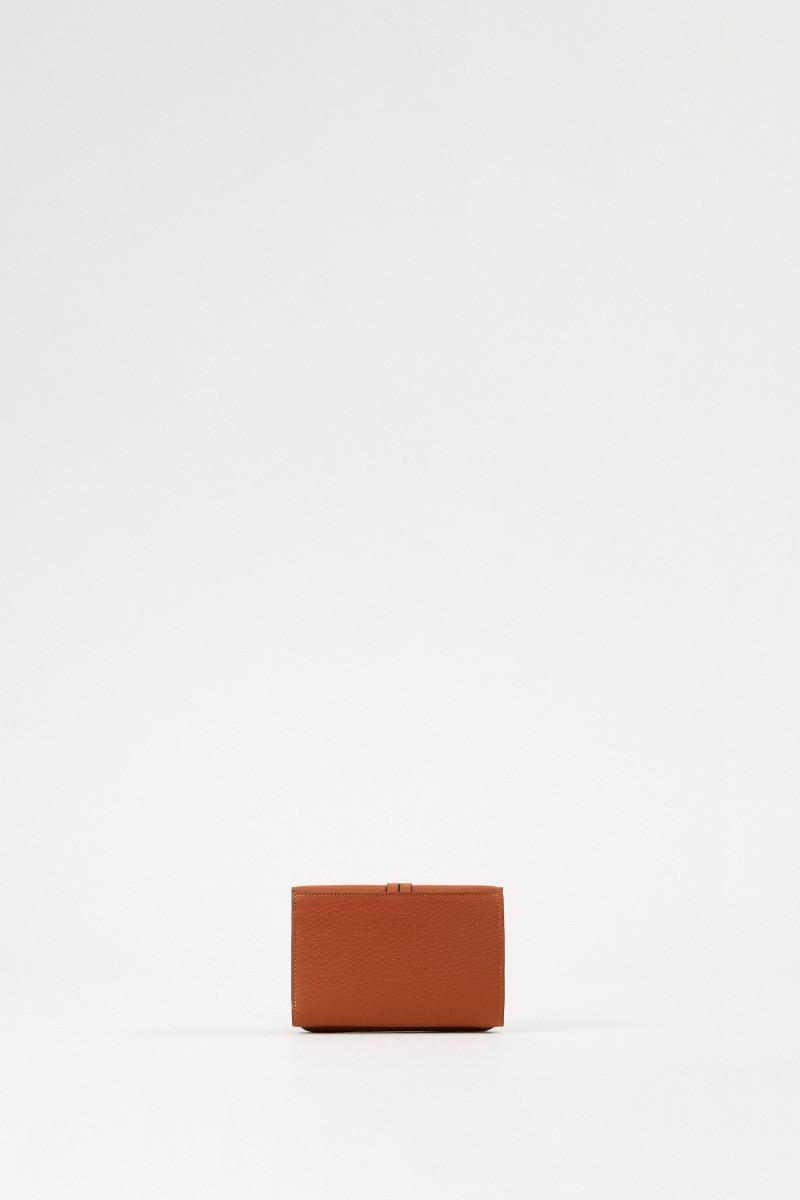 Chloé Leder-Portemonnaie 'Alphabet Small' Tan