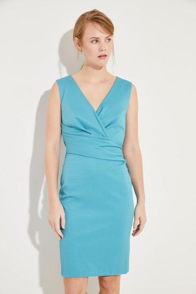 Talbot Runhof Cotton Dress with Gather Turquoise