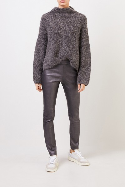 Fabiana Filippi Wool pullover with sequin details Anthracite