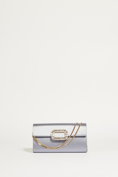 Satin-Clutch 'Enveloppe Flap' Grau