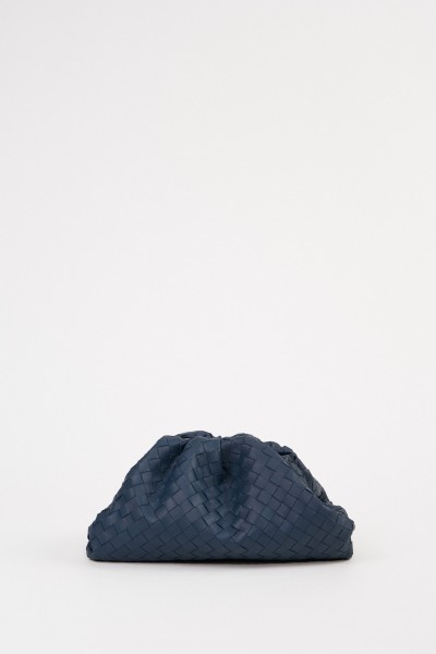 Bottega Veneta Geflochtene Clutch 'The Pouch' Petrol