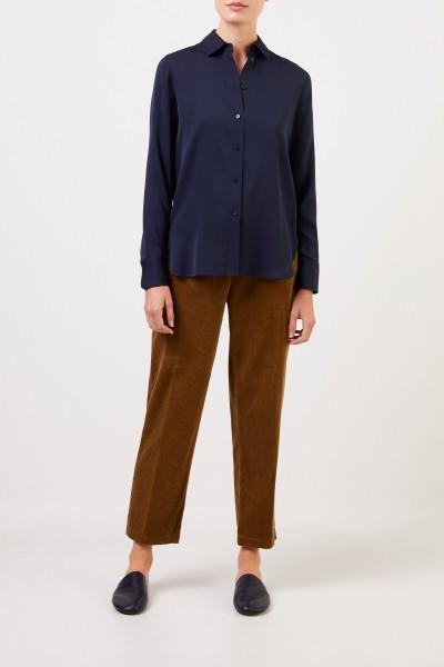 Vince Classic silk blouse Navy Blue