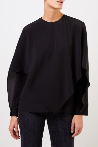 Stella McCartney Two layer silk blouse Black