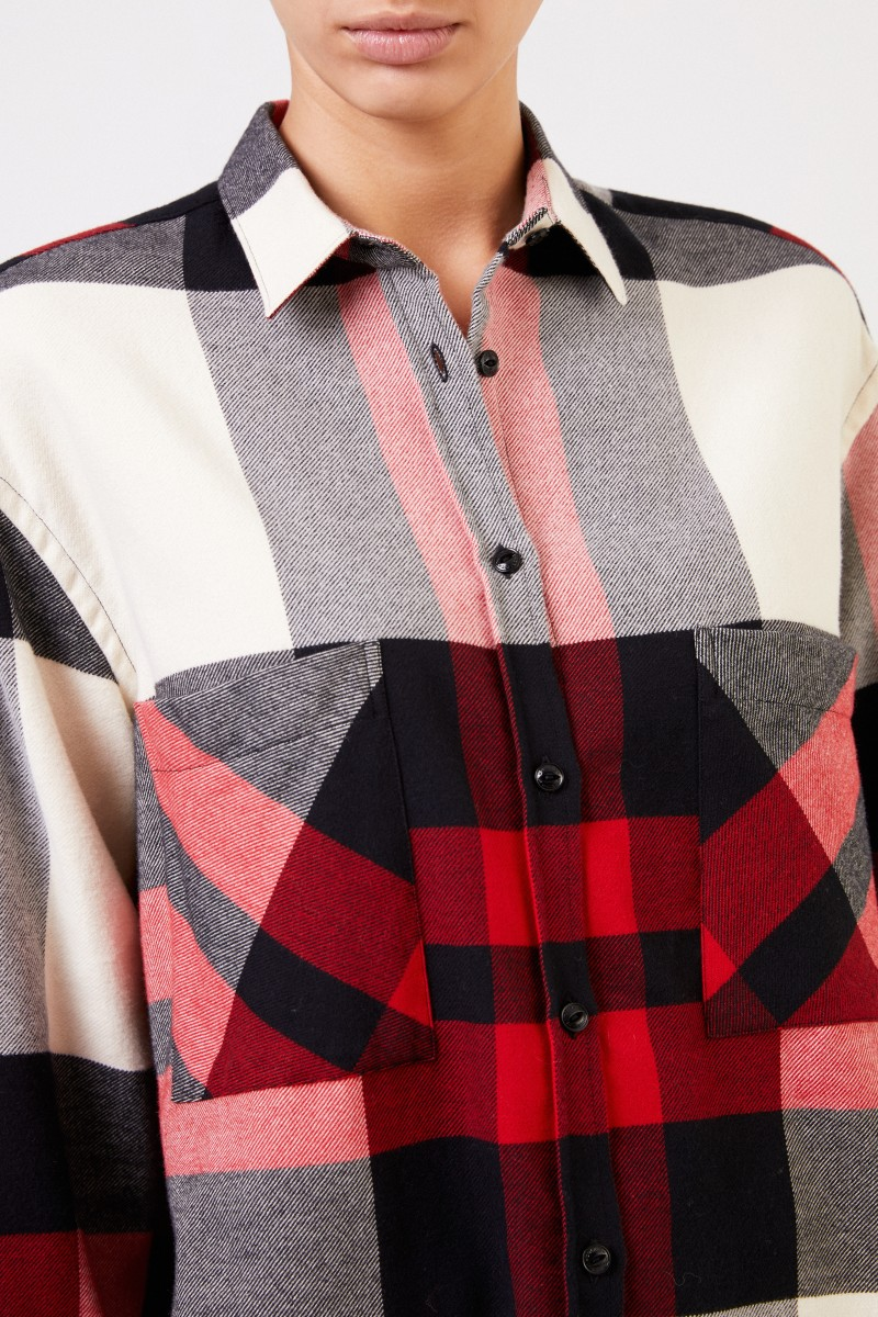 Woolrich Flannel Shirt mit Karomuster Rot/Multi