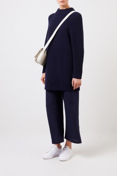 Langer Cashmere-Pullover 'Famke' Blau