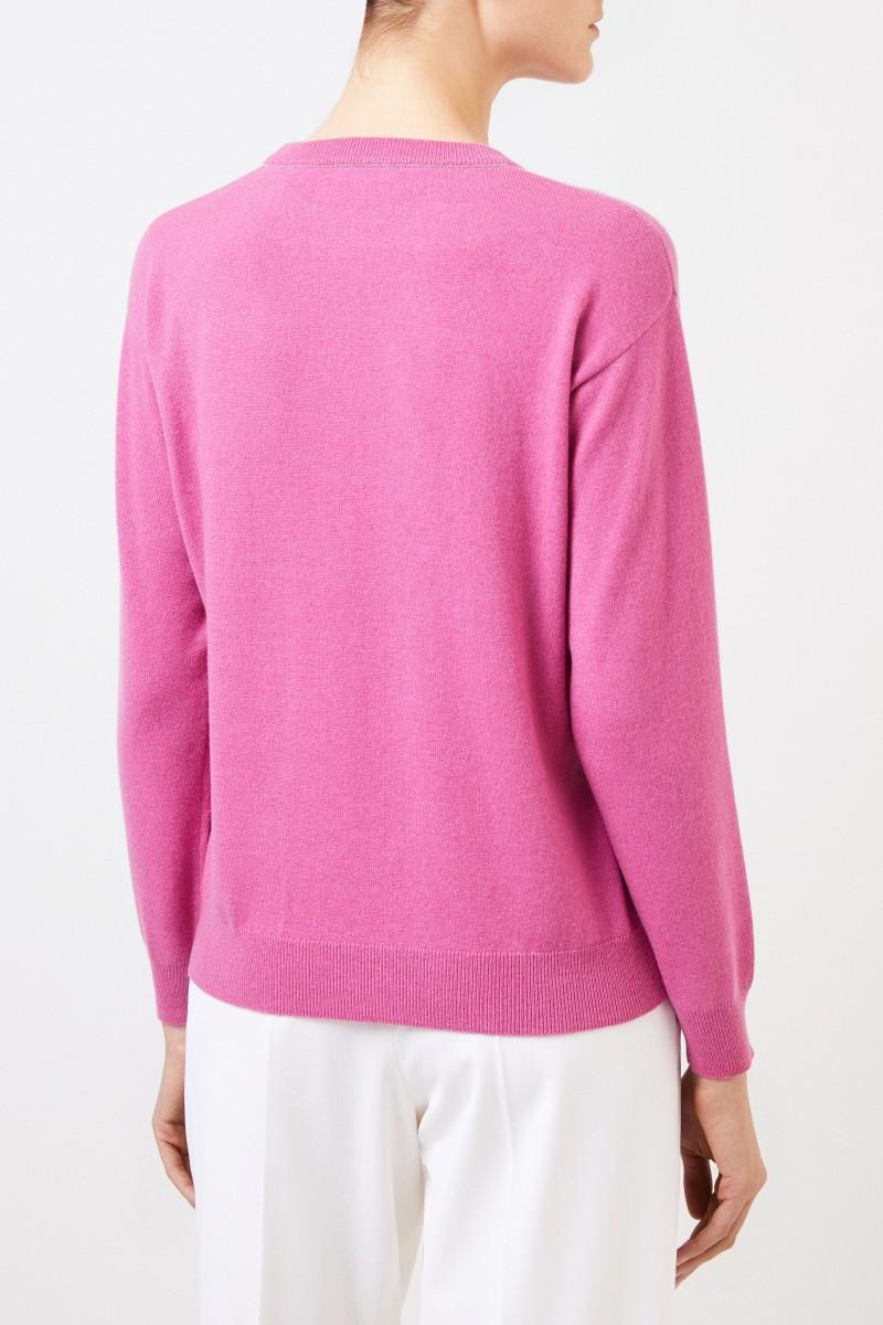 Klassischer Cashmere-Pullover Pink
