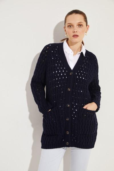 Wool cashmere cardigan 'Portia' Blue