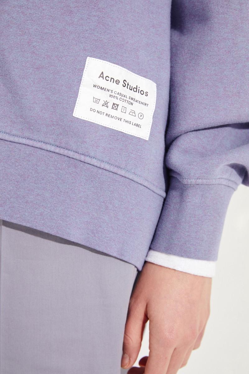 Oversize Sweatshirt mit Kapuze Blue Melange