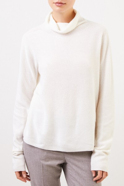 Fabiana Filippi Wool silk pullover with turtleneck White
