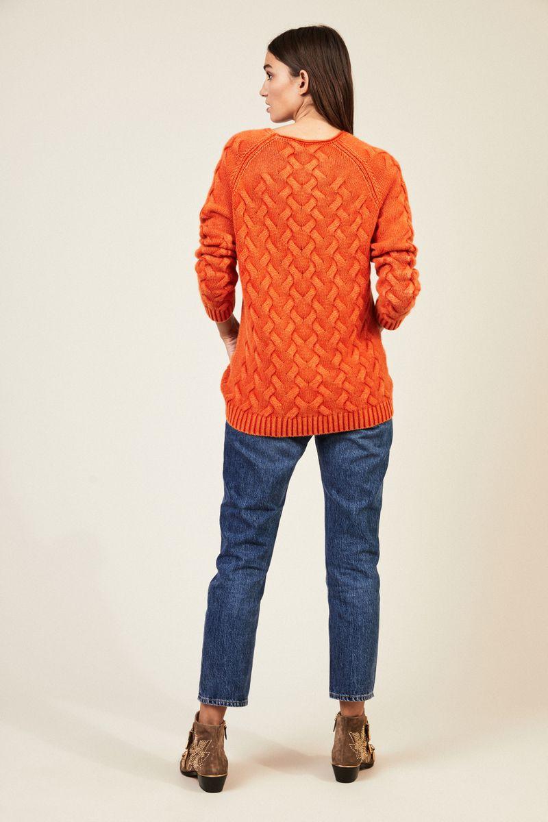 Cashmere-Pullover 'Arlberg' Orange