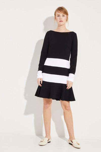 Kleid mit Streifen Schwarz/Weiß