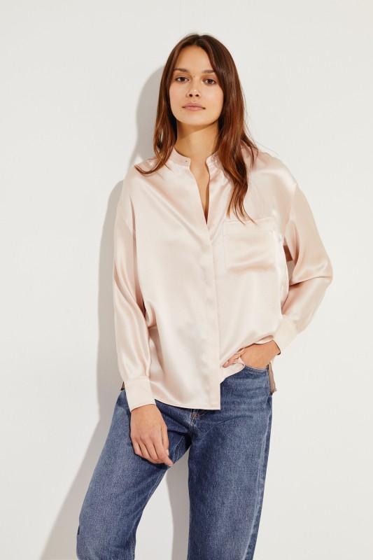 86738d754f76f Silk blouse Rose